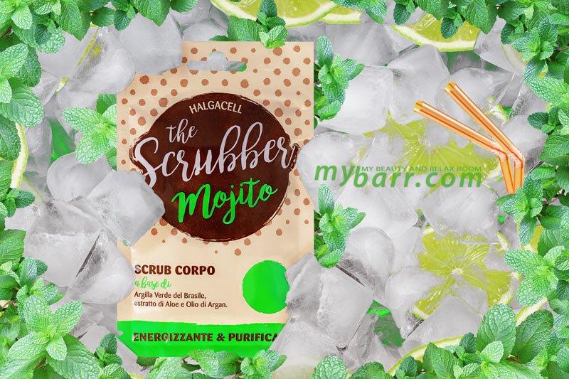 the scrubber scrub corpo mojito argilla verde aloe argan mybarr