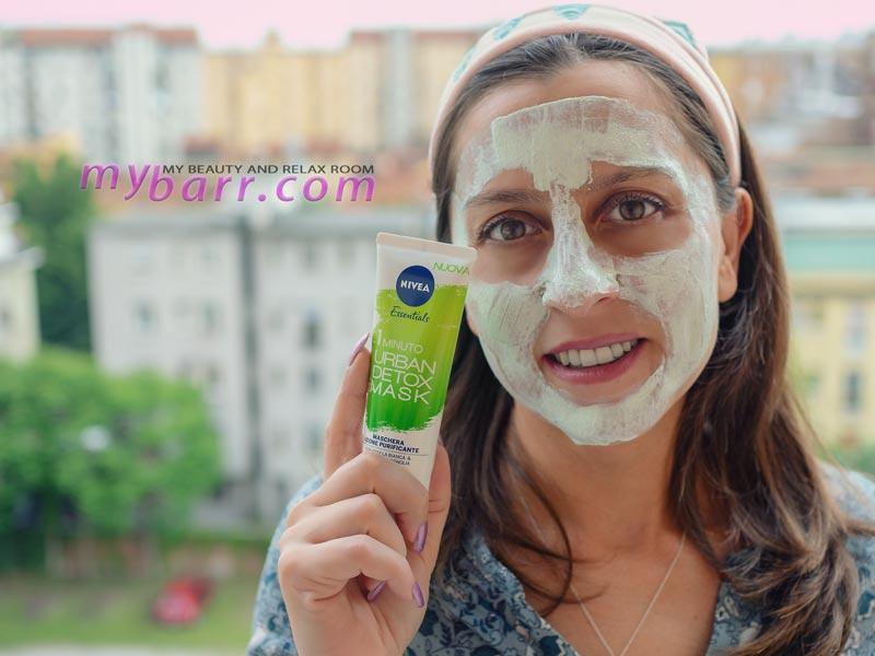 maschera nivea urban skin detox mask 1 minuto purificante mybarr