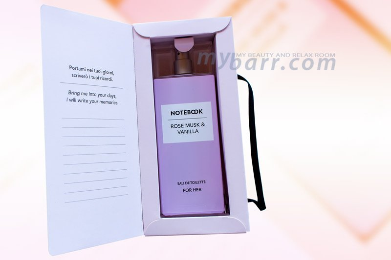 notebook fragrances donna rose musk e vanilla eau de toilette for her mybarr