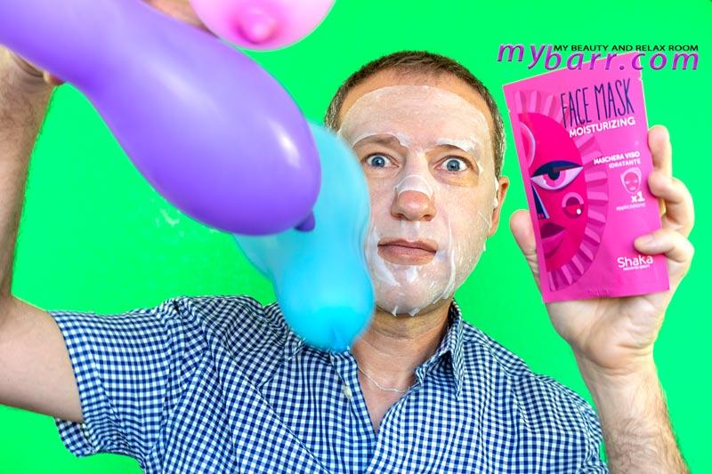 maschera viso idratante Shaka (OVS) o face mask moisturizing in tessuto mybarr