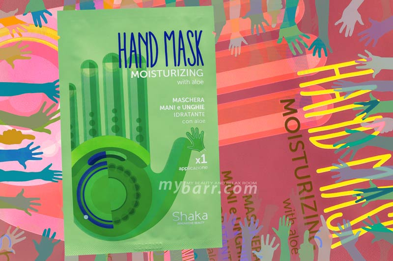 maschera mani e unghie Shaka o hand mask moisturiziong con aloe e olio di baobab mybarr