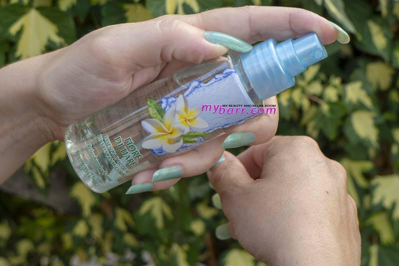 essenza d'acqua rinfrescante bottega verde fiore di tiarè acqua profumata corpo mybarr