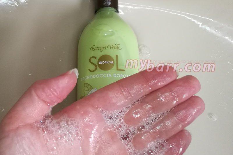 Bagnodoccia sol tropical doposole Bottega Verde che non lava via l'abbronzatura mybarr