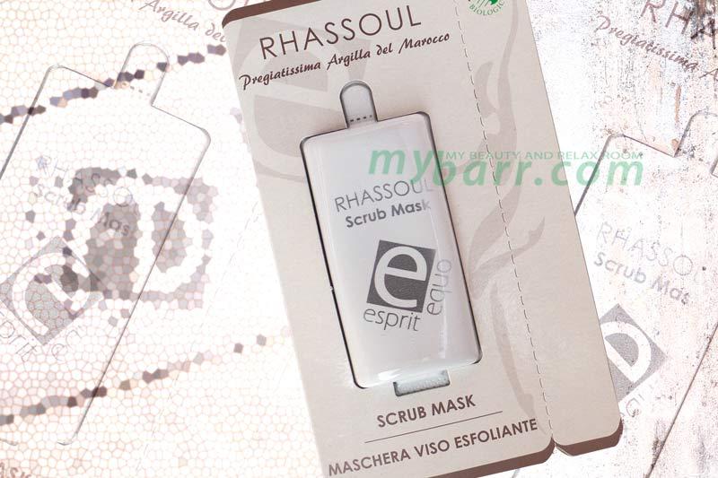 Esprit Equo rhassoul scrub mask maschera viso esfoliante bio nickel tested mybarr