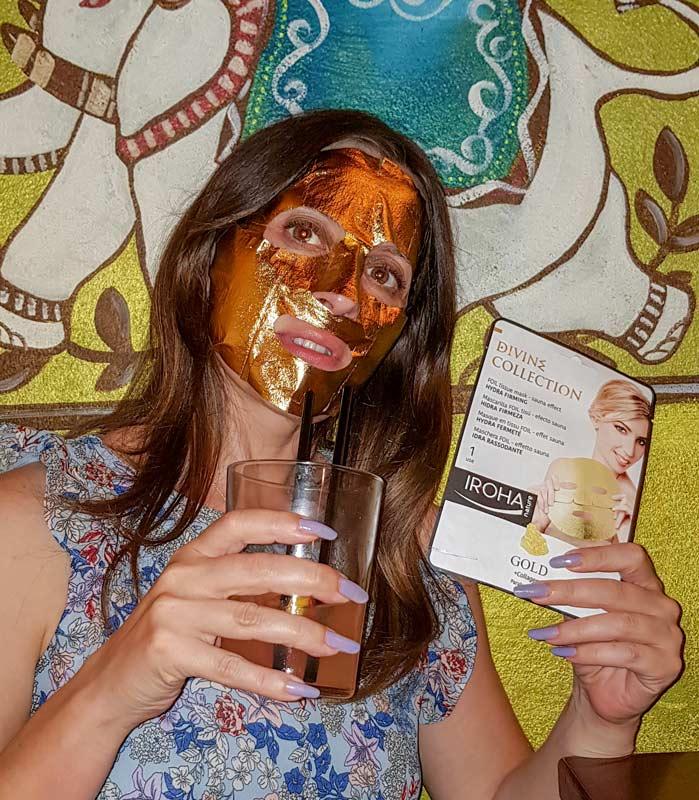 maschera iroha nature rassodante gold oro 24K collagene mybarr