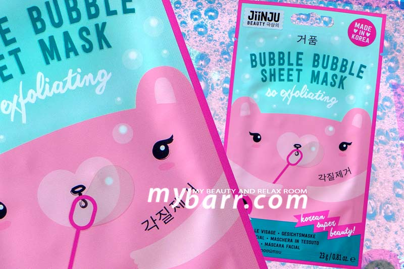 Jiinju bubble bubble sheet mask so exfoliating maschera viso in tessuto esfoliante mybarr