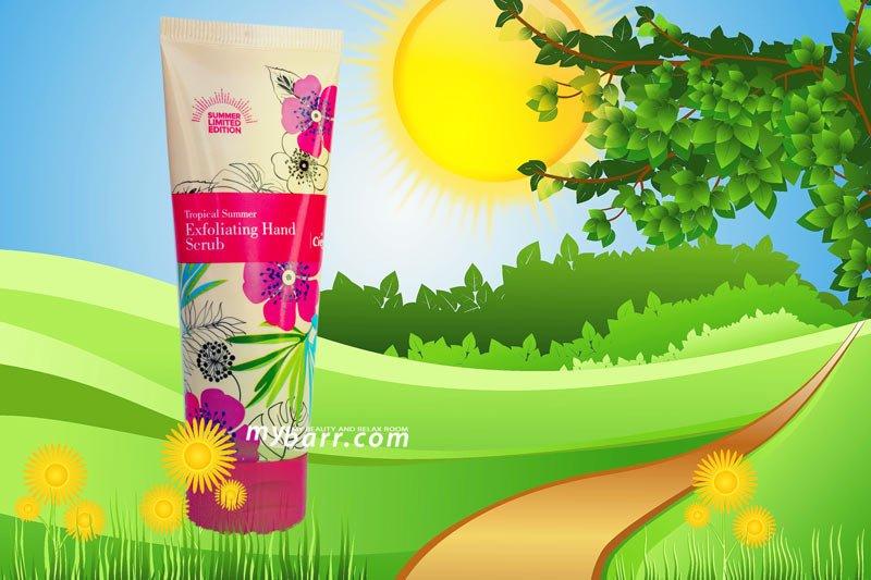 cien tropical summer exfoliating hand scrub crema mani esfoliante lidl mybarr