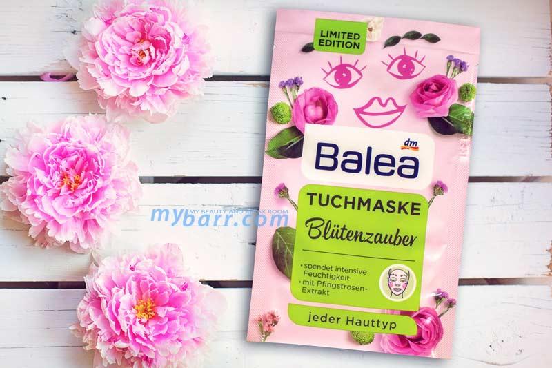 maschera balea in tessuto limited edition blutenzauber mybarr
