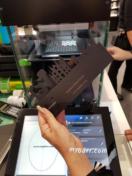 sephora milano duomo personalizzazione pacchetti regalo con stampa laser mybarr