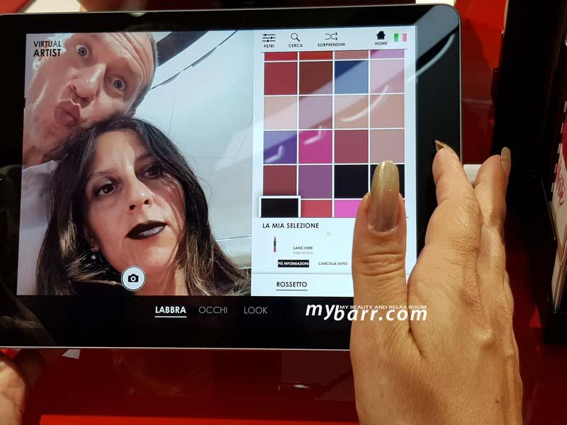 sephora milano duomo ipad make up virtual artist