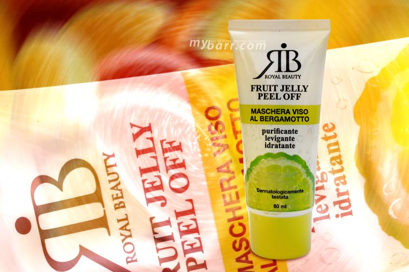 Royal Beauty fruit jelly maschera viso peel off al bergamotto mybarr