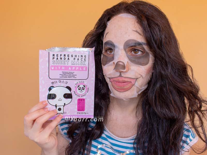 sugu maschera panda refreshing panda face sheet mask with apple ovs mybarr