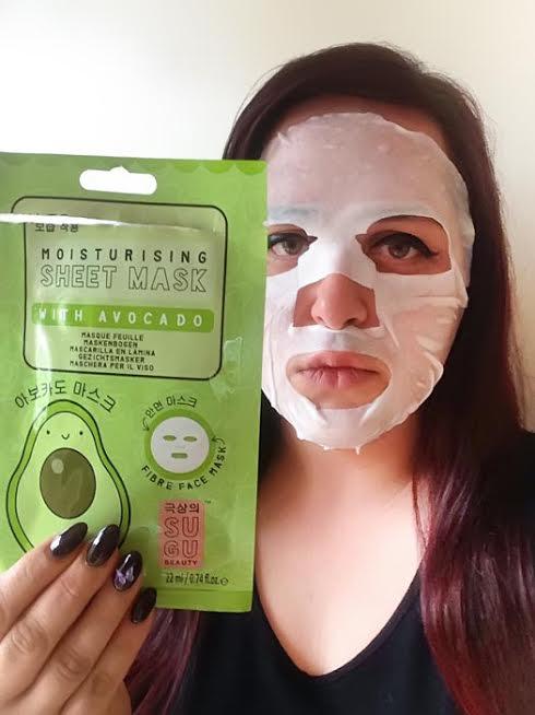 sheet mask with avocado mybarr