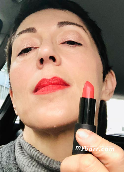 Maria galland lipstick Le Rouge Infini 125 Rouge D'automne swatch mybarr
