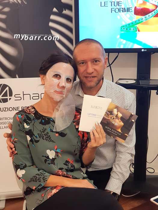 mirta estetica milano maschera electra tech cosmetics panestetic mybarr