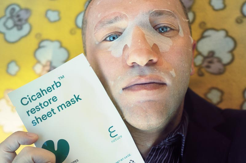 E Nature Cicaherb restore sheet mask o maschera viso lenitiva da Miin Cosmetics -mybarr