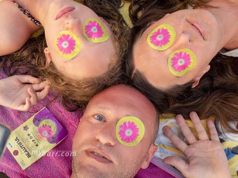 dischetti rinfrescanti occhi blooming beautiful k pop cooling gerbera pads mybarr