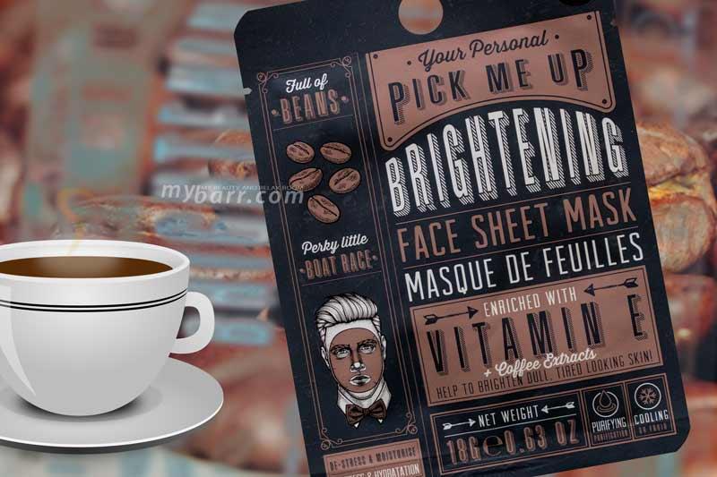 maschera uomo al caffè primark brightening face sheet mask mybarr