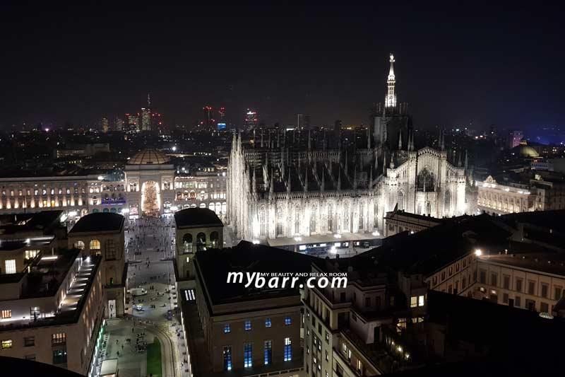 Evento Bellissima My Pro by Imetec con Belen: vista dalla terrazza Martini di Milano mybarr