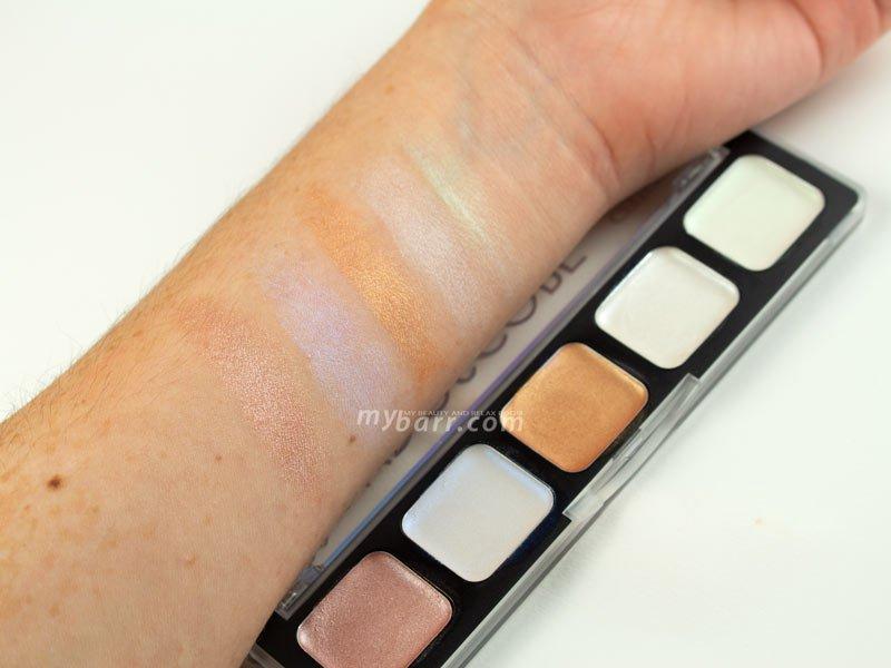 swatches glowdoscope palette viso catrice mybarr