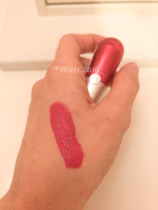 swatch rossetto Essence matt vellutato n 6 labbra idratate effetto no-wear