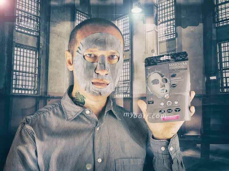 maschera hydrogel IperSoap detox con bava di lumaca mybarr