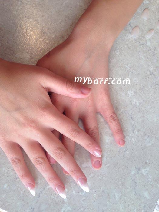 unghie finte kiss salon acrylic french manicure prova mybarr