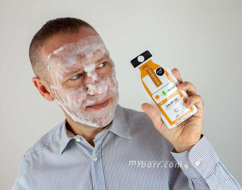 Primark foaming bubble mask, la maschera che fa le bolle al profumo di pesca. Maschera viso illuminante super economica in vendita da Primark mybarr
