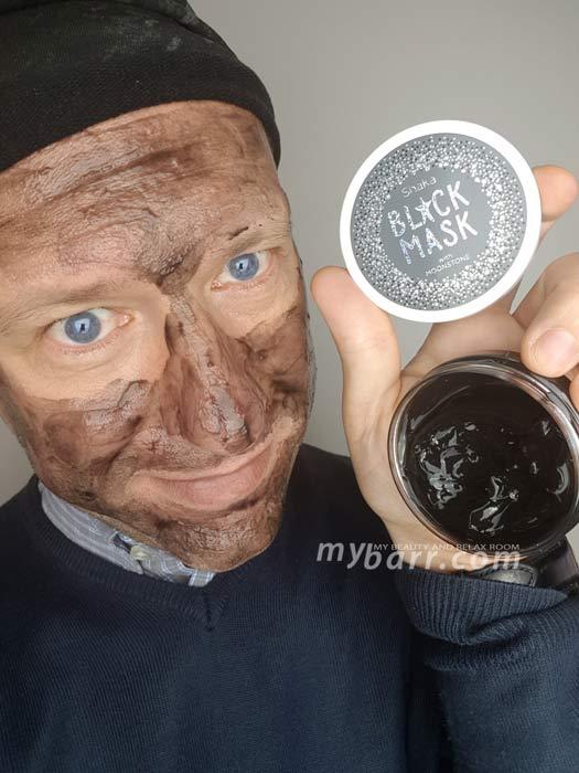 Prova della maschera Shaka black mask con pietra di luna reperibile da OVS - mybarr