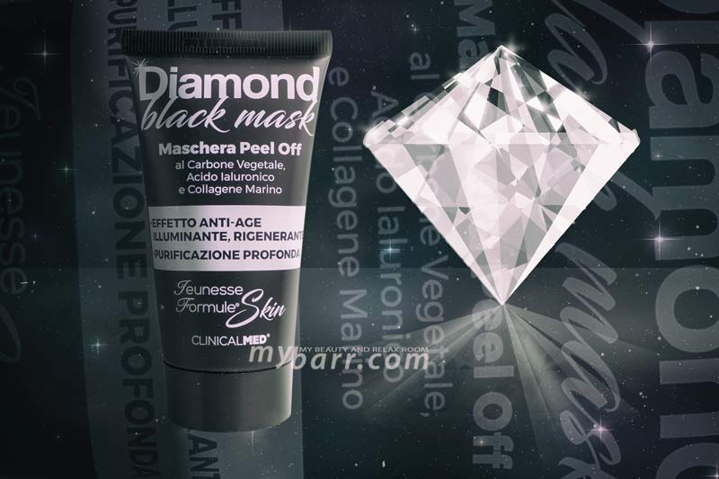 maschera viso diamond black mask peel off mybarr