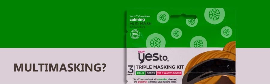 Yes To triple masking kit: coccole uniche per ogni zona del viso