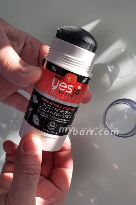 Yes To tomatoes scrub e detergente 2 in 1 con carbone (come si apre) - mybarr