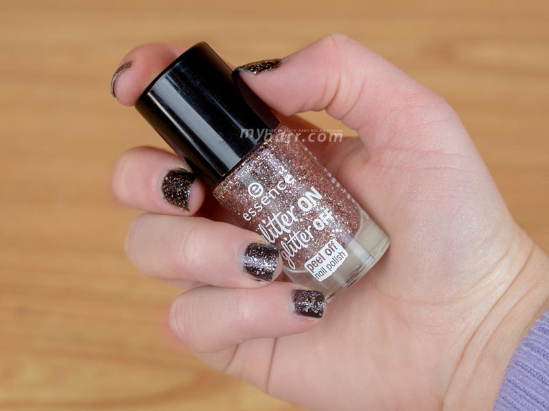 Essence glitter on glitter off smalto peel off mybarr