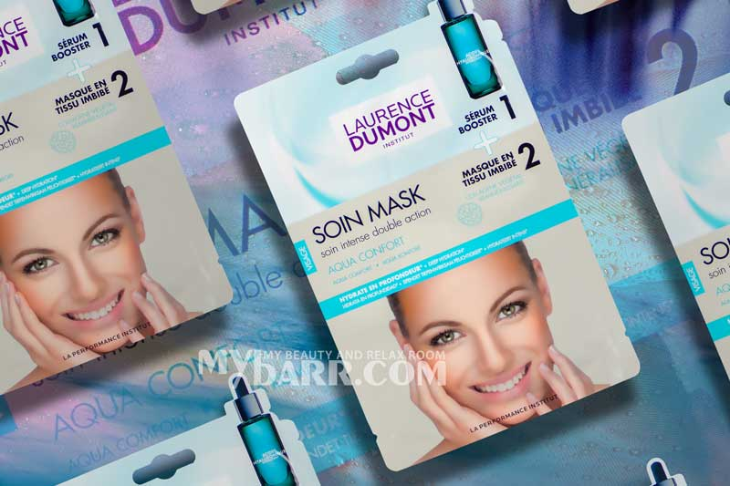 maschera viso Laurence Dumont in due step soin mask aqua confort mybarr