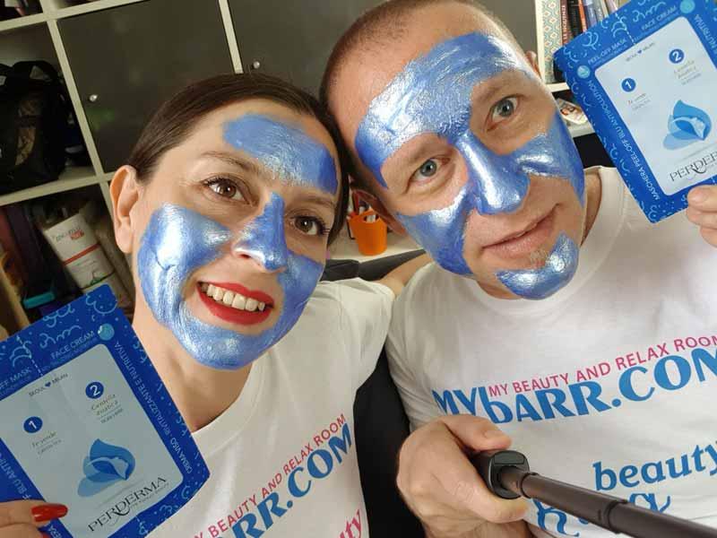 maschera peel off antipollution blu perderma mybarr opinioni