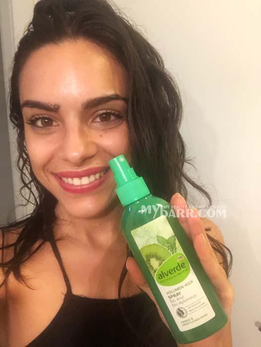 spray volumizzante capelli al kiwi e menta bio Alverde mybarr opinioni