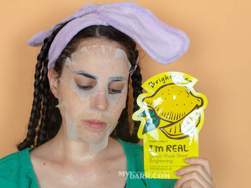 maschera illuminante tonymoly i'm real lemon mask mybarr opinioni