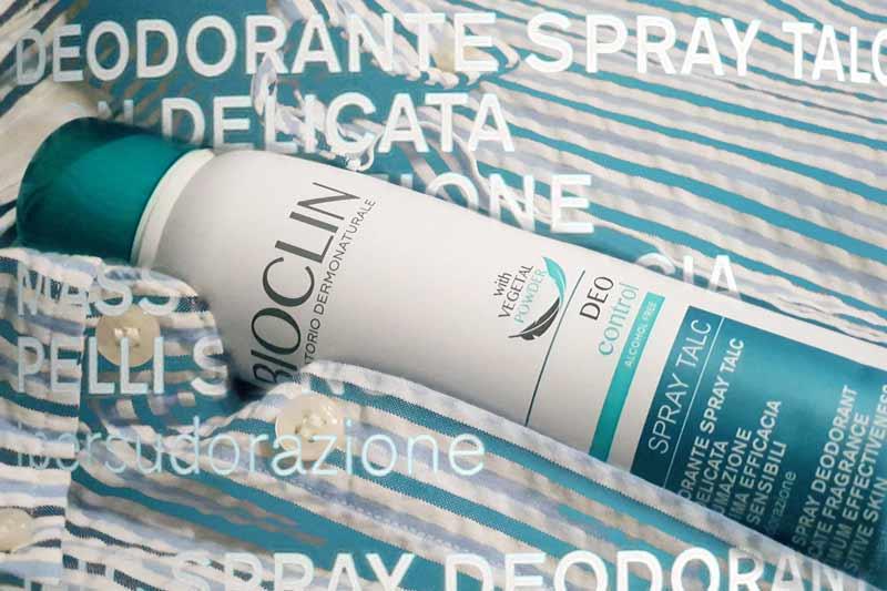 Bioclin deo control spray talc deodorante ipersudorazione mybarr opinioni