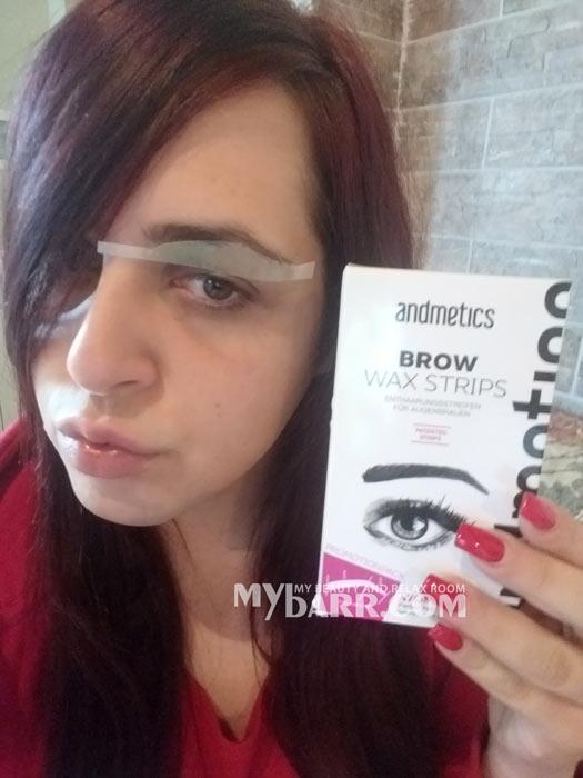 Andmetics brow wax strips amazon strisce depilatorie sopracciglia mybarr