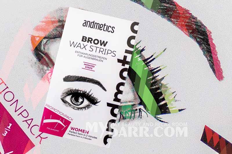 Andmetics brow wax strips amazon strisce depilatorie sopracciglia mybarr