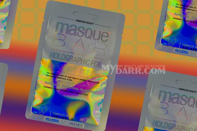 masque bar holographic foil peel off mask mybarr