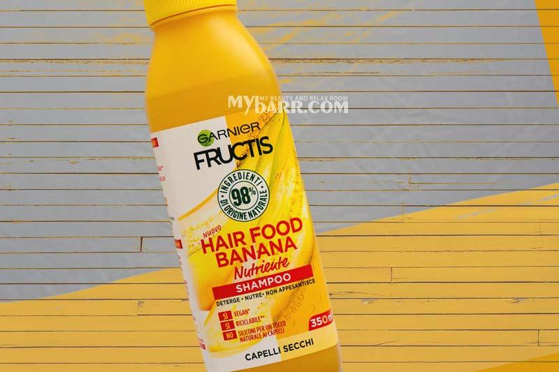 Garnier Fructis hair food shampoo nutriente banana mybarr recensioni