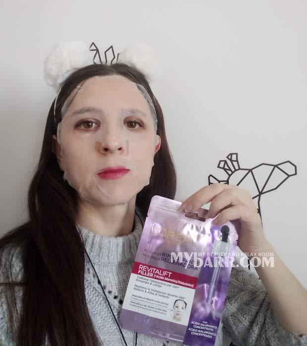 maschera rimpolpante L'Oreal revitalift filler tessuto mybarr opinioni