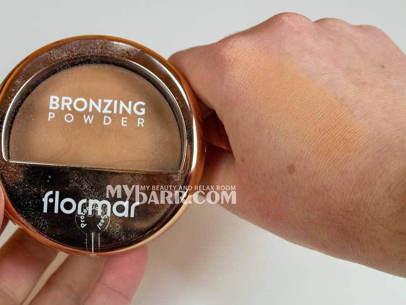 swatches terra abbronzante Flormar bronzing powder mybarr