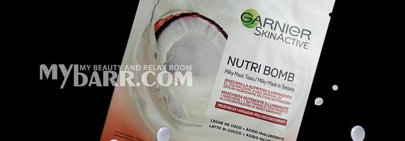 Maschera Garnier Nutri Bomb Milky Sheet Mask al cocco