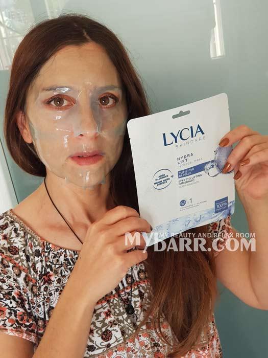 maschera viso lycia skincare hydra lift hydrogel mybarr opinioni