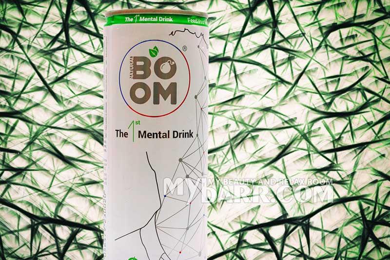 Bevanda energizzante Natural Boom mental drink senza caffeina mybarr