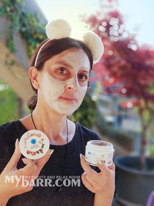 maschera scrub Zaffiro Organica perfezionatrice argilla rosa mybarr opinioni