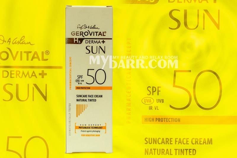 crema viso gerovital spf 50 tinta naturale sun expert mybarr
