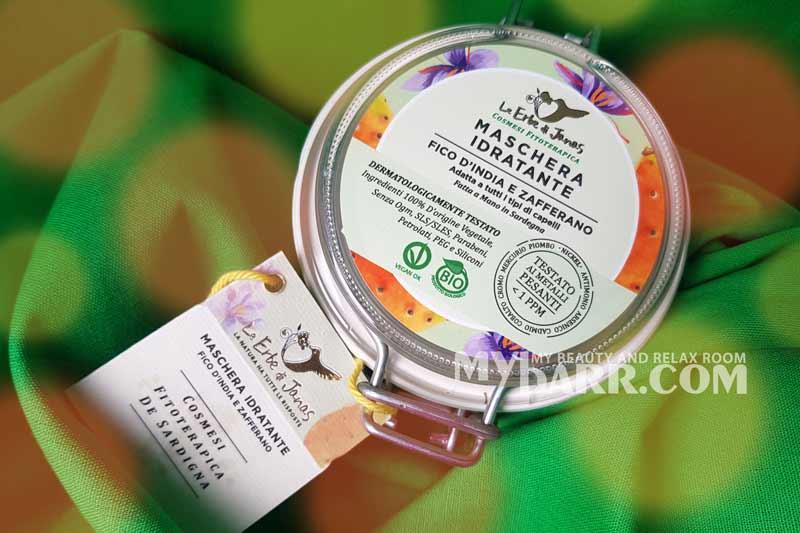 le erbe di janas maschera idratante fico zafferano capelli mybarr